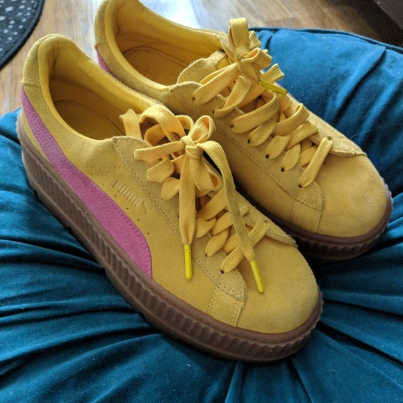 Fenty Puma creepers yellow and pink